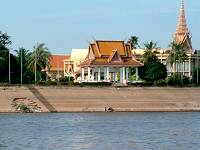The Royal Palace, Phnom Penh, from the river