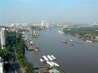 The Saigon River from the Renaissance Hotel